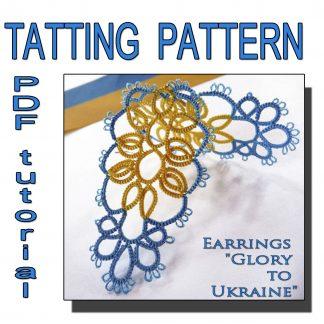 Earrings Glory to Ukraine pattern