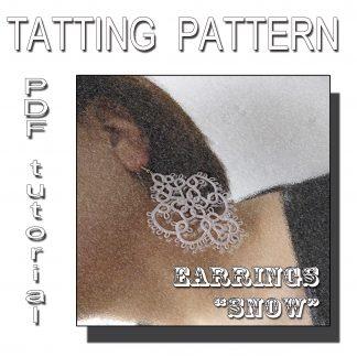 Earrings Snow tatting pattern