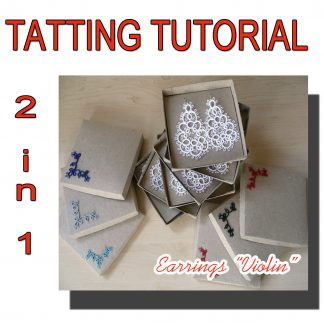 Earrings Violin tatting pattern