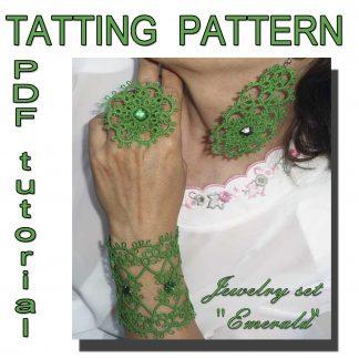 Emerald jewelry set pattern