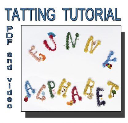 Funny Alphabet tatting tutorial