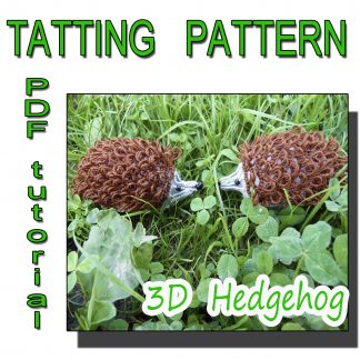 Hedgehog tatting pattern