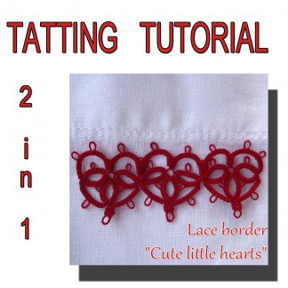 Lace border hearts pattern