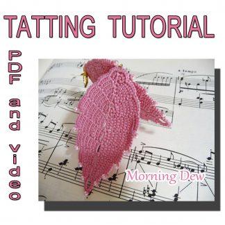 Tatting pattern earrings Morning Dew