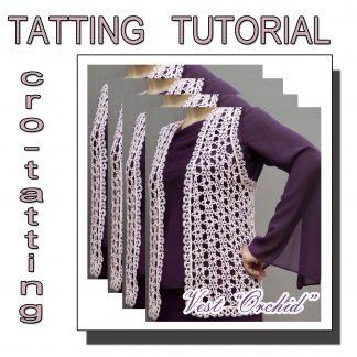 Tatting pattern vest Orchid