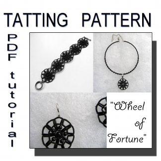 Wheel of Fortune tatting pattern