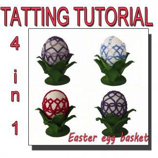 Easter egg basket tatting pattern