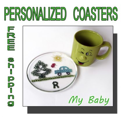 Personalized coasters My Baby