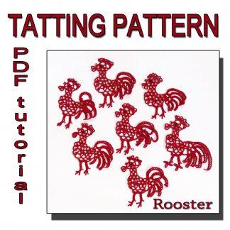 Rooster tatting pattern