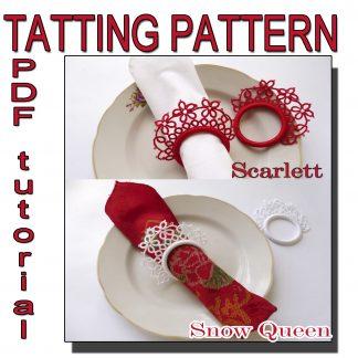 Two tatting patterns napkin rings