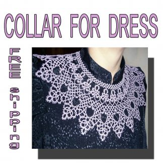 Lilac collar necklace