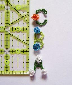 Rose Garden Alphabet for tatting in resin