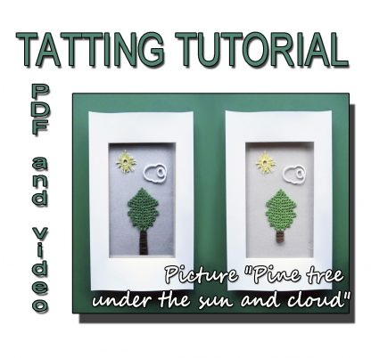 Picture pine tree tatting pattern