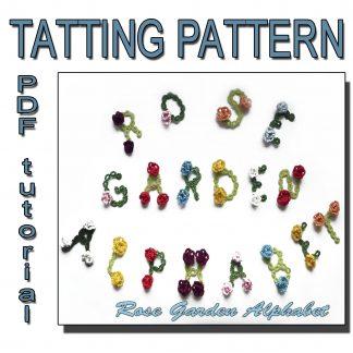 Rose garden alphabet tatting pattern