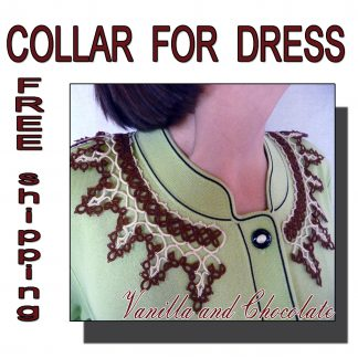 Vanilla and Chocolate collar for dress
