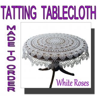 White Roses tablecloth