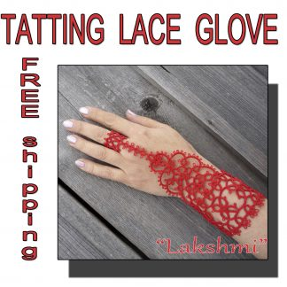 Lace red glove Lakshmi