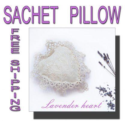 Lavender sachet heart