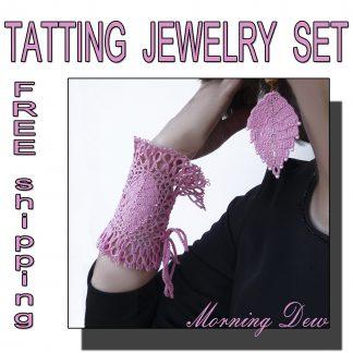 Pink jewelry set Morning Dew