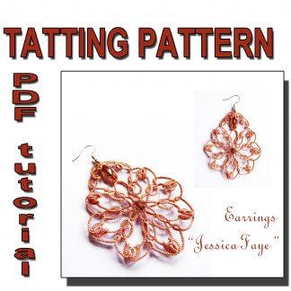 Earrings Jessica Faye tatting pattern