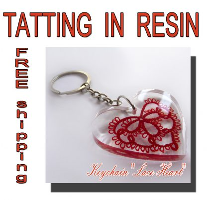 Keychain Lace Heart