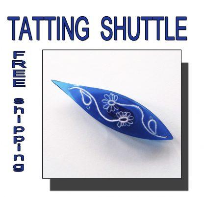 Blue shuttle tatting