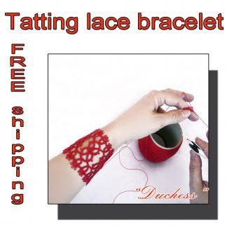 Cuff red bracelet Duchess