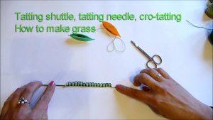 How to make tatting grass