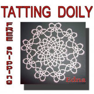 Tatting doily Edna