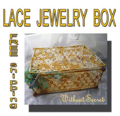 Tatting jewelry box