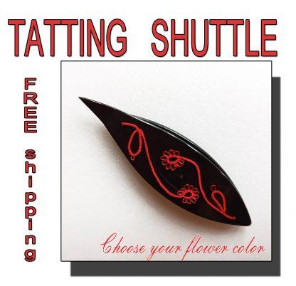 Black shuttle tatting