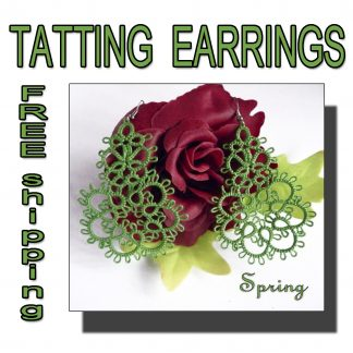 Green earrings Spring