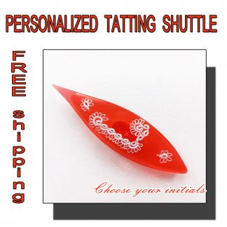 Personalized tatting shuttle red