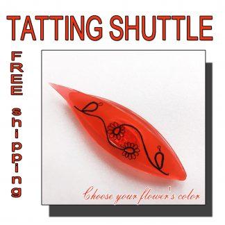 Red shuttle tatting