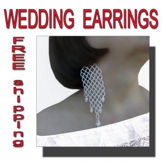 Wedding earrings Vicki