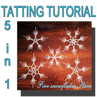 Five snowflakes Stars pattern
