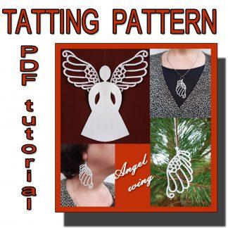 Angel wing tatting pattern
