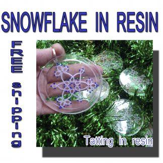 Snowflake in resin