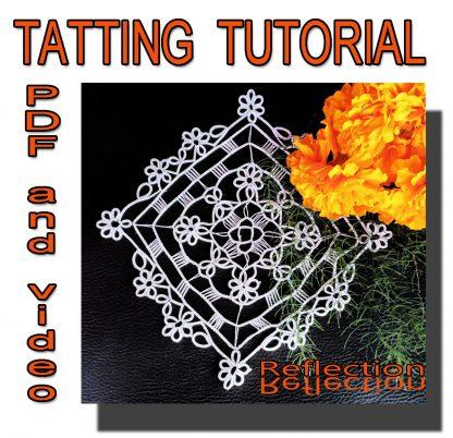 Tatting pattern Reflection