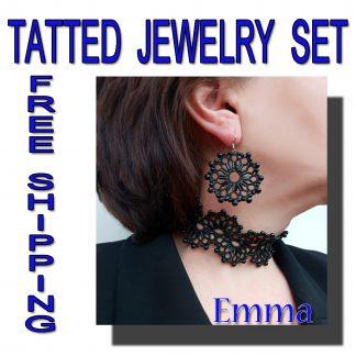 Black jewelry set Emma