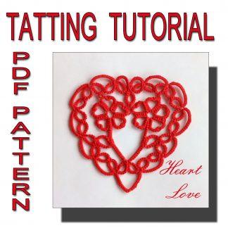 Heart Love tatting pattern