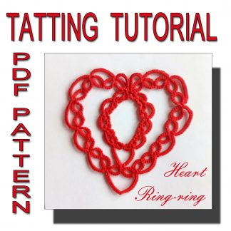 Heart Ringring tatting pattern