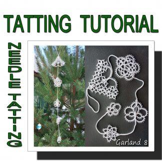 Needle tatting pattern garland eighth