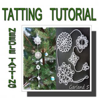 Needle tatting pattern garland fifth