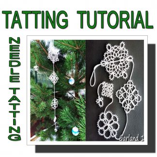 Needle tatting pattern garland first
