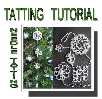 Needle tatting pattern garland fourth