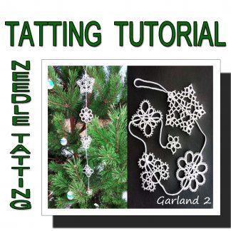 Needle tatting pattern garland second