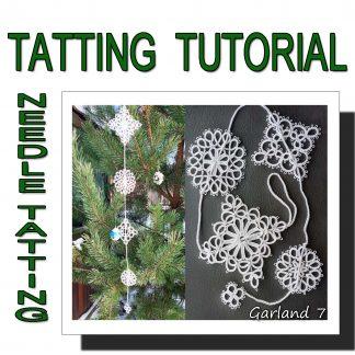 Needle tatting pattern garland seventh