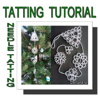 Needle tatting pattern garland sixth