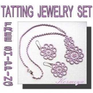 Tatting jewelry set Kosmeya